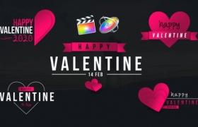FCPX插件-10组浪漫情人节甜蜜爱情文字标题动画 Valentine Clean Titles + 使用教程