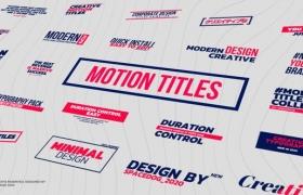 FCPX插件-24个运动排版字幕条标题动画 Motion Titles & Lower Thirds