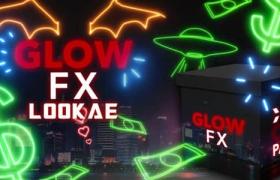 85个手绘发光线条霓虹闪烁图形动画叠加4K视频素材 CinePacks Glow FX