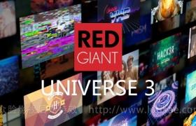 FCPX插件-红巨人视觉特效和转场插件包Red Giant Universe 3.0.2(AE软件中常用特效)