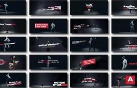 FCPX插件-15种动态艺术简约文字标题动画 Art Typography