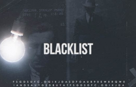 Apple Motion模板-沉闷悬疑侦探电影黑名单片头 Blacklist