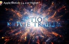 Apple Motion模板-大气史诗震撼粒子文字图片宣传片头 Action Movie Trailer