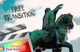 FCPX转场插件:史诗大片波浪变形转场 Wavy Slide Transition
