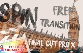 FCPX转场插件:旋转变形过渡转场 Spin Transition