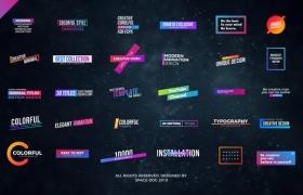 FCPX插件-30个时尚炫彩文字标题排版设计动画 Colorful Titles