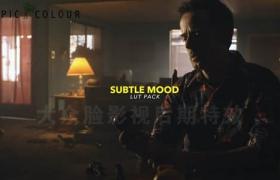 50个黑暗弱光夜晚环境电影视频调色LUTs预设Tropic Colour-Subtle Mood LUTs(FCPX/PR/PS/AE/达芬奇)