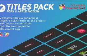 FCPX插件:24个简洁文字标题排版动画 Titles Pack 4K