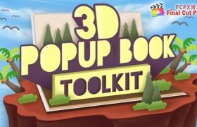 FCPX插件:卡通有趣三维翻书展示动画  3D Popup Book Toolkit+使用教程