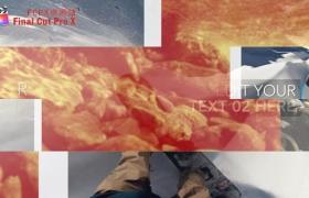 FCPX插件+Motion模板:彩条过渡图文介绍展示LOGO片头包装 Color Stripes Opener 含音乐