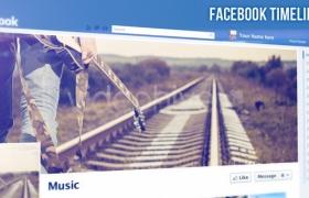Apple Motion 5模板:网络社交博客网站传宣展示 Facebook Timeline