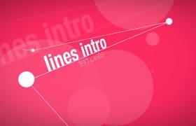 Apple Motion 5 模板:三维空间点线链接文字图像介绍展示动画 Lines Intro