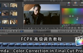 FCPX高��{色教程 Lynda – Color Correction in Final Cut Pro X