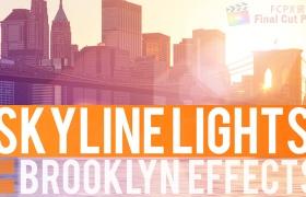 FCPX插件:自定义镜头耀斑光晕工具 BE-Skyline Lights