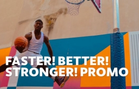 FCPX模板-数字失真故障体育运动赛事介绍开场 Faster Better Stronger