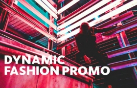 FCPX模板-酷炫数字故障复古刮痕图文切换开场 Dynamic Fashion Promo