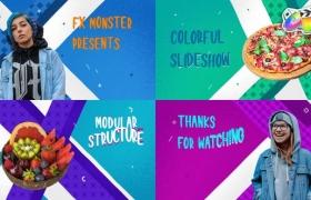 FCPX插件-10组卡通彩色图形场景介绍包装动画 Colorful Cartoon Slideshow