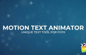FCPX插件-6组抖动变化文字标题动画 Motion Text Animator