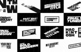 FCPX插件-22个黑白大标题文字动画 Big Bold Titles
