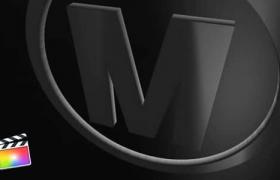 FCPX插件-简洁优雅三维LOGO标志展示片头Elegant Dark Logo Reveal