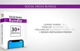 FCPX插件-30个社交媒体LOGO标题介绍展示动画 Social Media Bundle