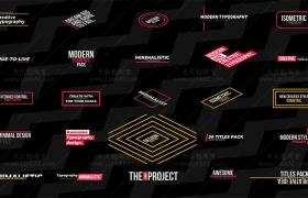 FCPX插件:30个创意文字标题排版设计动画 Final Cut Pro X