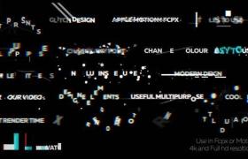 FCPX插件-19个画面像素损坏干扰文字标题动画 Glitch Titles 2