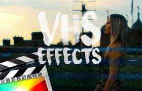 FCPX插件-24种复古怀旧VHS老录像带特效预设 VHS Effects