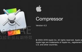 苹果视频压缩编码输出软件 Compressor 4.3.2(英/中文版)免费下载