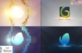 Apple Motion模板:简洁明亮光效LOGO标志片头 Simple Logo Animation