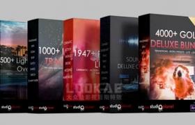 4000组超值豪华包转场模板插件LUTS调色预设音效炫光VHS特效视频叠加素材 4000+ Gold Deluxe Bundle Collection