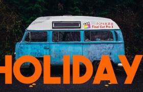 Apple Motion模板:快闪图文动画展示片头 Colourful Summer Slideshow