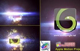 Apple Motion模板:唯美漂亮粒子汇聚LOGO动画片头 Particles Quick Logo