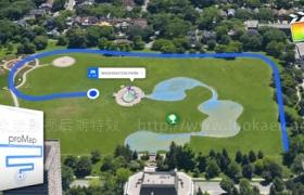 FCPX插件-地图导航线路运动轨迹位置坐标地点标注动画工具 ProMap + 使用教程
