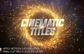 FCPX模板-大气震撼火星粒子文字标题电影预告片开场 Cinematic Trailer Titles