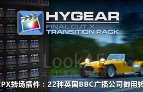 FCPX插件:22种英国BBC广播公司御用转场 HyGear FCPX Transitions