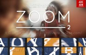 FCPX转场插件:第二季 扭曲变形推拉缩放切换 mTransition Zoom 2