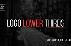 FCPX插件-24个LOGO标志文字标题字幕条动画 Logo Lower Thirds