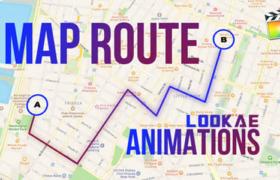 FCPX插件-地图定点路径连线动画生成器 Map Route Animations
