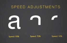 FCPX插件:英文字母数字符号书写动画预设 ProFont Typeface