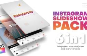 FCPX插件-6套竖屏动感节奏快闪快剪图文介绍展示片头模板 Instagram Slideshow Pack