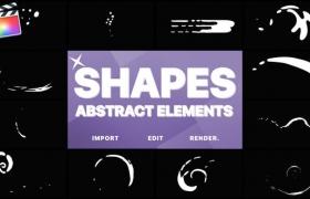 FCPX插件-12个有趣的卡通液体MG动画元素 Funny Abstract Shapes