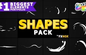 FCPX插件-10种手绘卡通MG图形动画元素 Cartoon Shape Elements